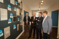 Finance Minister visits the new Spearline headquarters in Skibbereen ahead of offical openingwhere 75 new jobs were announced.