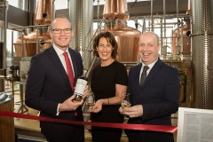 04-03-19 No Repro Fee.L to R. Tánaiste Simon Coveney, Helen Scully of Clonakilty Distillery and Jim Daly, Minister of State for Mental Health and Older People at the opening The Clonakilty Distillery.